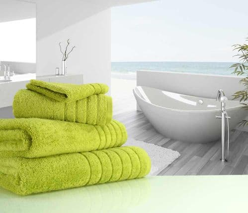 Luxurious linenHall, 650gsm Face Cloth in Sea Grass