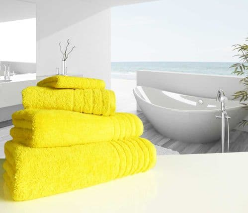Luxurious linenHall, 650gsm Face Cloth in Yellow