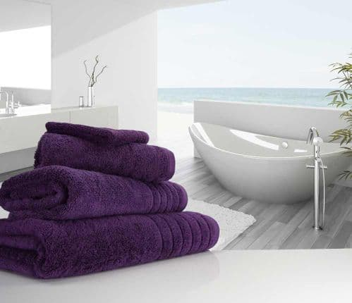 Luxurious linenHall, 650gsm Hand Towel in Aubergine
