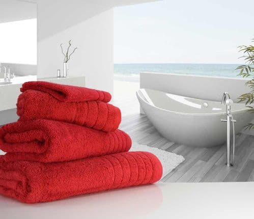 Luxurious linenHall, 650gsm Hand Towel in Cherry
