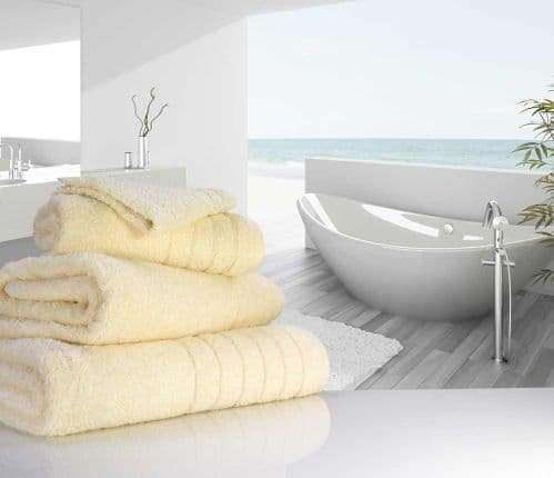 Luxurious linenHall, 650gsm Hand Towel in Cream