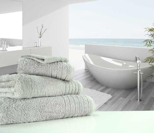 Luxurious linenHall, 650gsm Hand Towel in Silver Grey