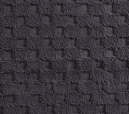 Luxurious linenHall, 850gsm 100% Cotton Reversible Bath Mat in Charcoal