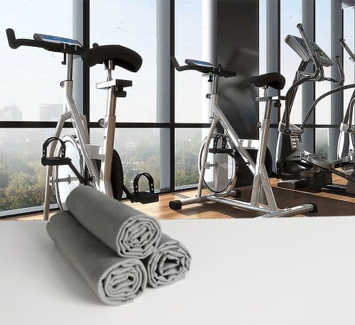 Microfibre Gym or Sweat Towel 30cm x 120cm in Charcoal