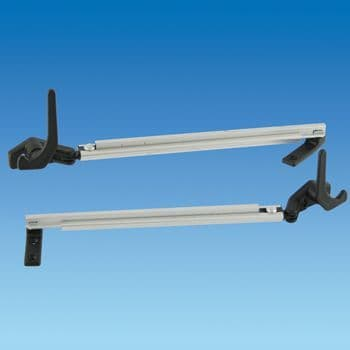 300mm Auto Stay, Black End, Lever Lock