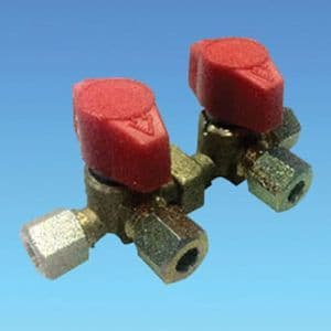 8mm Double Manifold Gas Valve