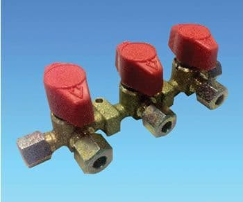 8mm Triple Manifold Gas Valve