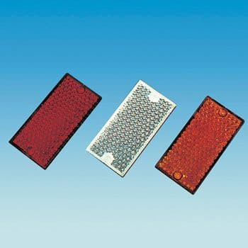 Reflective Rectangle 95mm x 60mm  Red