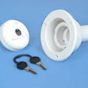 White Tank Filler 40mm With  Cap