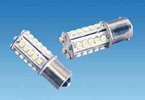 BA15S 30 LED Warm White 12V Bulb