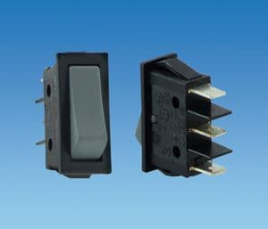 BCA Large Grey Centre Off Rocker Switch