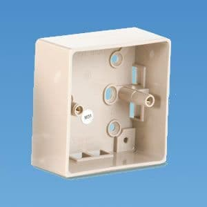 Beige Surface Mounted Box 1 Gang 37mm