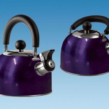 BLUE 1.6 Litre Gas Hob Kettle with Folding Handle