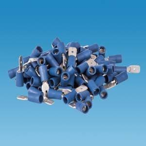 Blue 6.3mm Tab (Male) Insulated Terminals - Pack Of 100