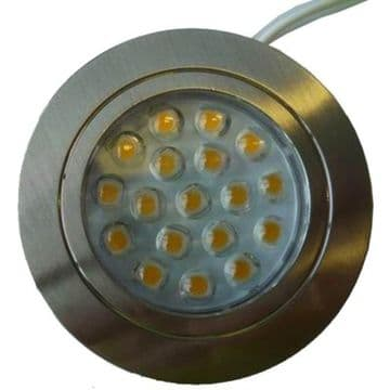 DIMATEC CHROME RECESSED 18 LED TOUCH CONTROL