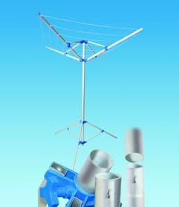 Fold Down Rotary Airer With Tripod , Carry Case and Pegs