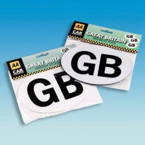 GB Badge Self Adhesive
