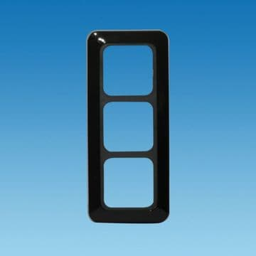 GLOSS BLACK CT Range 3 Way Face Plate