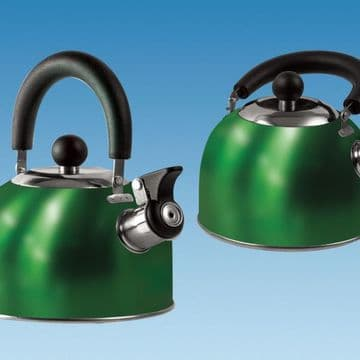 GREEN 1.6 Litre Gas Hob Kettle with Folding Handle