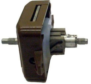 Large Double Brown Door Lock - With Spindle Holes