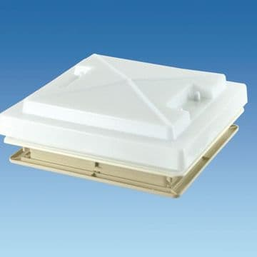 MPK 400 x 400 Complete Rooflight With White Handles And Flynet