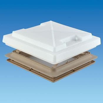 MPK 400 x 400 Rooflight With Flynet/Lock/Blind - Beige