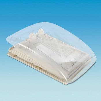 MPK Clear Dome Rooflight With  Flynet And Blind  -  400 and 280 Square - White