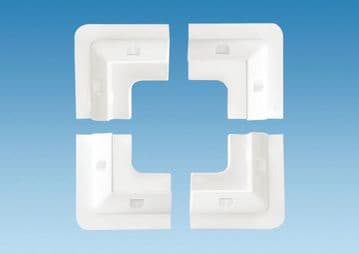 Plastic Corner Mounts - WHITE ( Set of 4 )