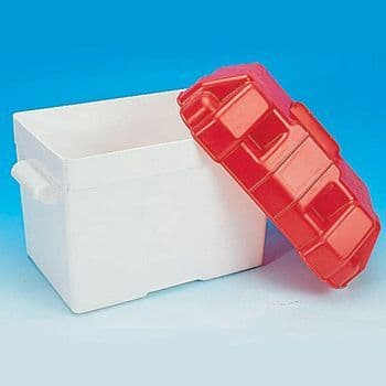 Red Plastic Battery Box