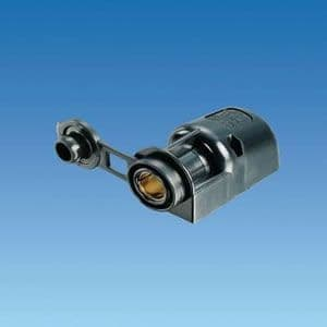 RV 12 Volt Surface Mounted Socket with Flap