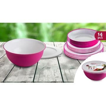 SANALIVING 14PC SET (FUSCIA)