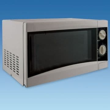 Silver Microwave Oven 17 Litre 550 Watts