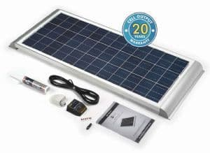 SOLAR TECHNOLOGY 80W SOLAR PANEL WITH AERO PROFILE & KIT