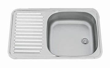 square sink with drainer