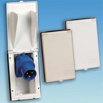 White Rectangular Flush Fitting Inlet