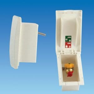White TND Gas Outlet Box