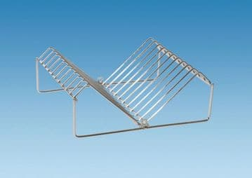Wire Plate Rack - Chrome Plated