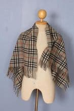 BURBERRY Shawl Grey Lambswool Authentic
