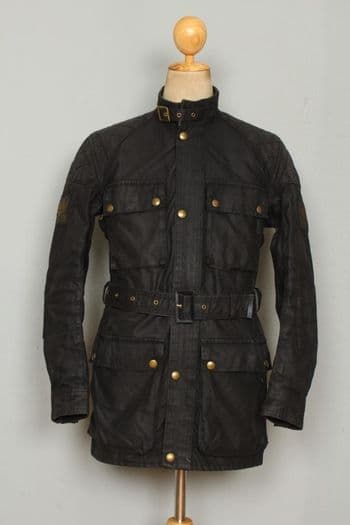 Vtg 70s BELSTAFF Trialmaster Professional Motorcycle WAXED Jacket Small