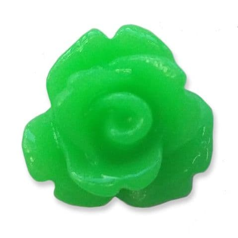 10mm Citrus Green Small Resin Rose Buds