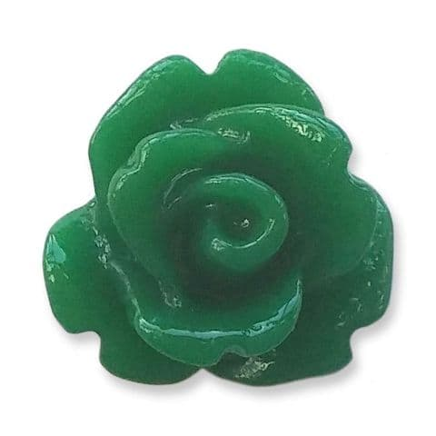 10mm Forest Green Small Resin Rose Buds