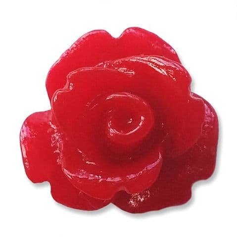 10mm Redcurrant Resin Rose Buds