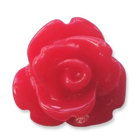 10mm  Strawberry Red Resin Rose Buds