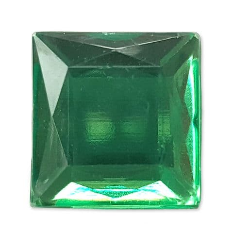 12mm EMERALD 25pcs Square Flatback Acrylic Embellishment Gems