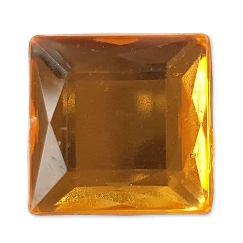 12mm GOLD 25pcs Square Flatback Acrylic Embellishment Gems