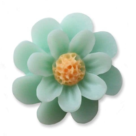 18mm Mint Daisy Resin Flatback Cabochons