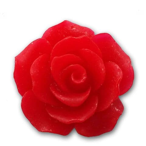 18mm Red Resin Rose Bloom Cabochon