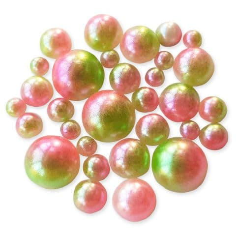 20g ROSEY APPLE Gradient Ombre Flatback Pearls