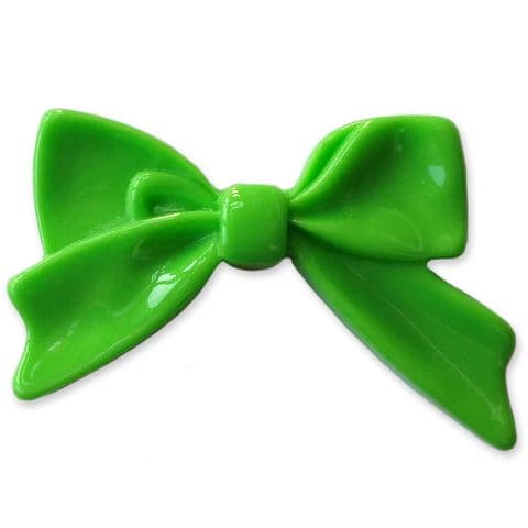 45mm GREEN Bright Bowknot Flatback Bow Cabochon