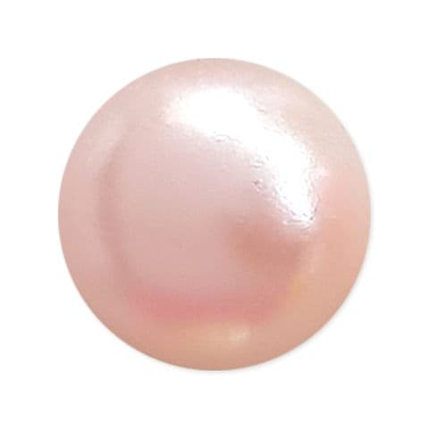 50pcs PALE PINK Faux Half Round Flatback Pearl Embellishments